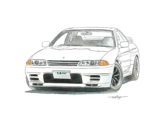 スカイライン R32 Gt R 名車、懐かしい車のリアルなイラスト 大全集 Naver まとめ